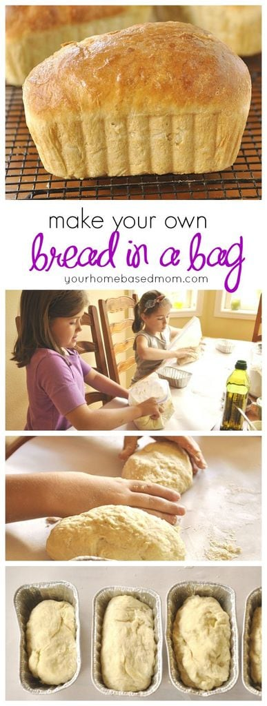 Making Bread in a Bag is going to become a favorite activity!  Little kids and big kids alike will love making their own loaf of bread.