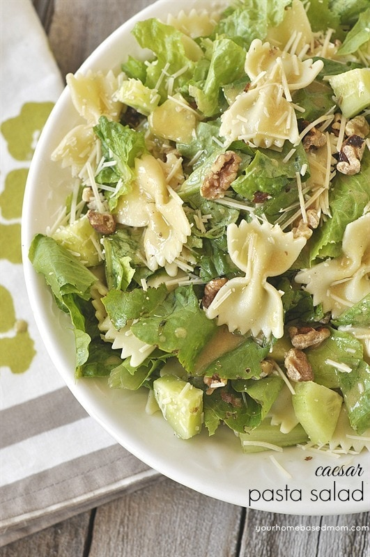 Caesar Pasta Salad in a bowl
