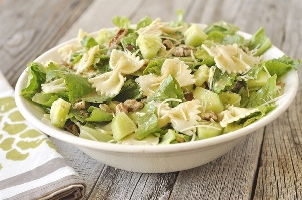 bowl of Caesar Pasta Salad