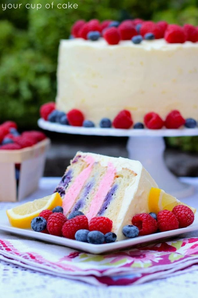 lemon berry cake from your cup of cake