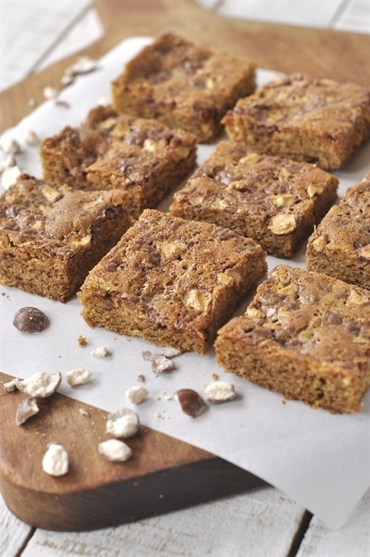 Malted Milk Ball Blondies