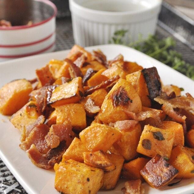 maple syrup bacon sweet potatoess