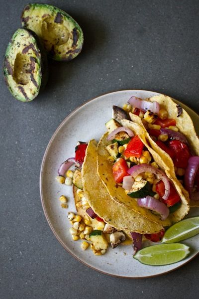 Fresh Grilled Veggie Tacos