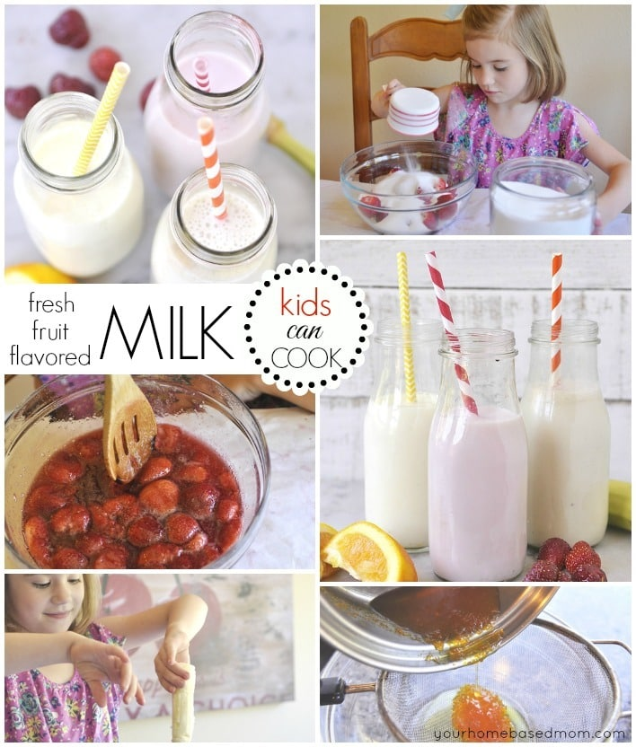 Fresh fruit flavored milkl