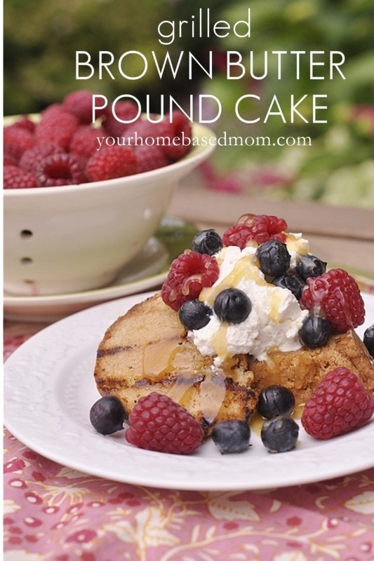 Grilled Brown Butter Pound Cake with Lemon Curd and Fresh Berries