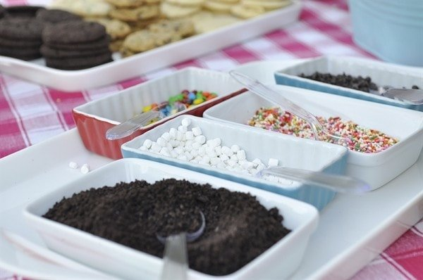 Ice Cream Sandwich Bar toppings