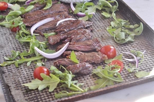 Marinated Skirt Steak with Tomato Relish