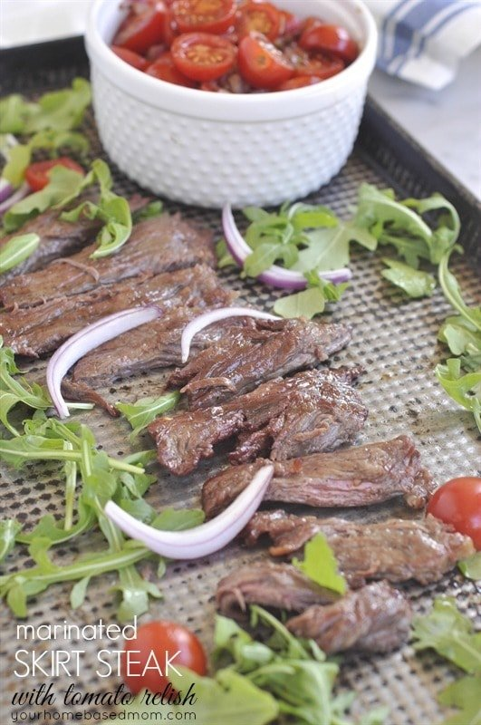 Marinated Skirt Steak with Tomato Relish - your homebased mom