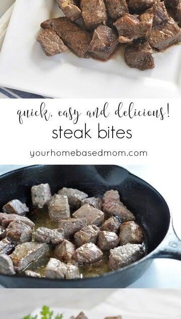 Steak Bites are quick, easy and delicious