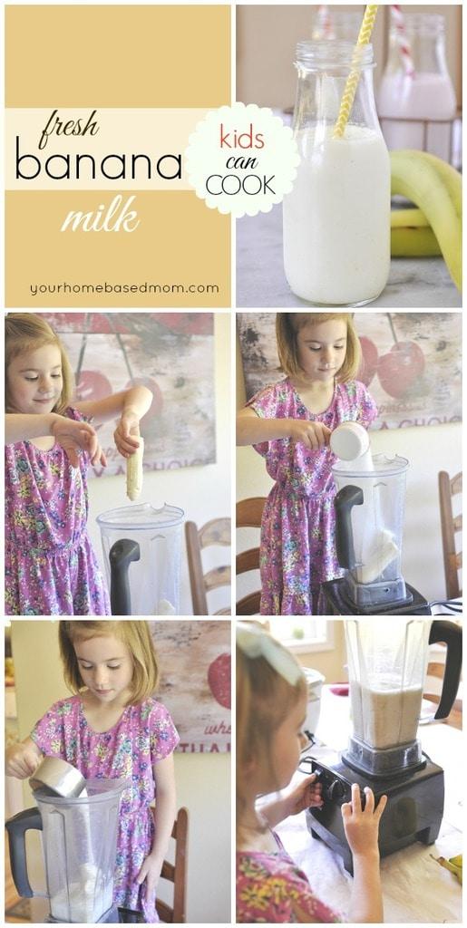 fresh banana milk