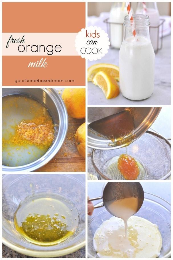 fresh orange milk