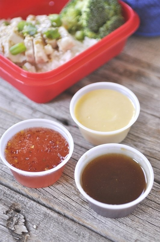 A variety of dipping sauces can take your lunch from drab to fab!