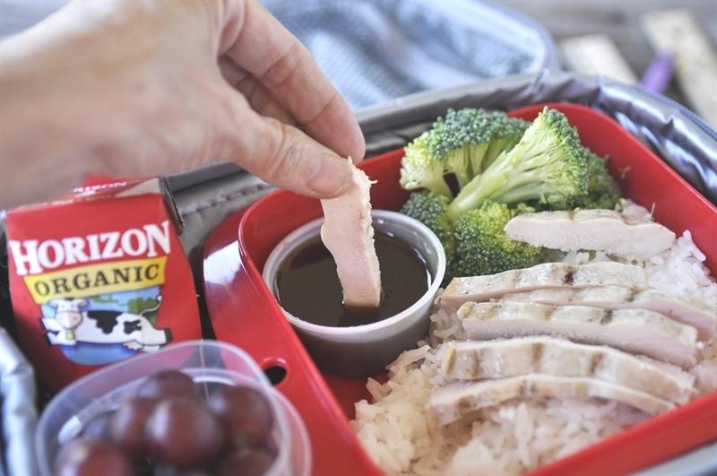 Bento Box with Dipping Sauce