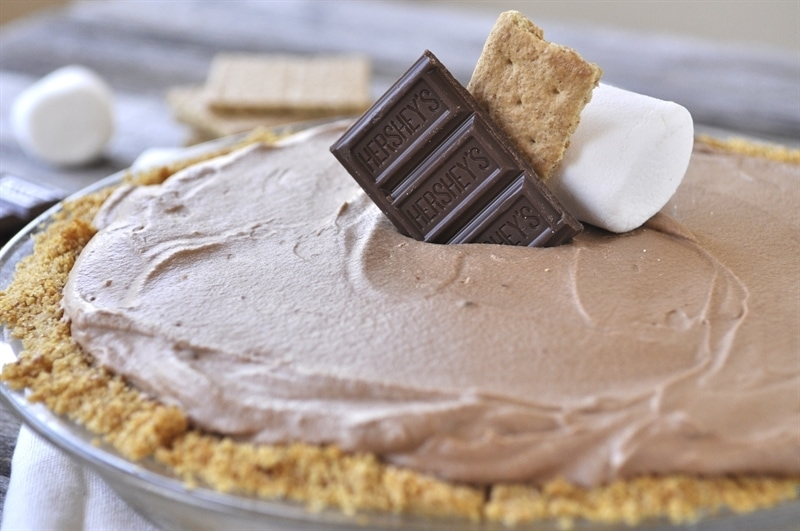 Chocolate S'mores Pie