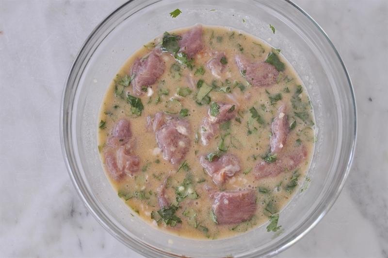 Cilantro Lime Coconut Pork Kebobs