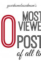 Your Homebased Mom Top Ten Most Viewed Posts!
