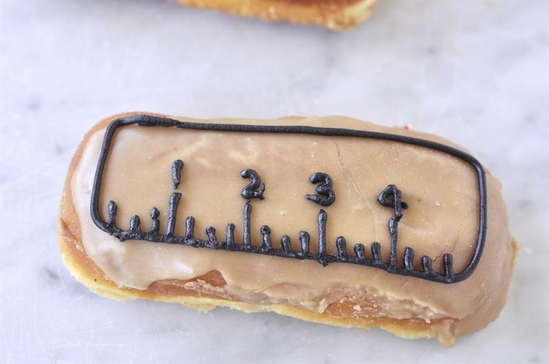 ruler marks on donut