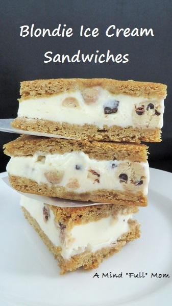 blondie-ice-cream-sandwiches - Fresh from the garden recipes - Inspiration Monday