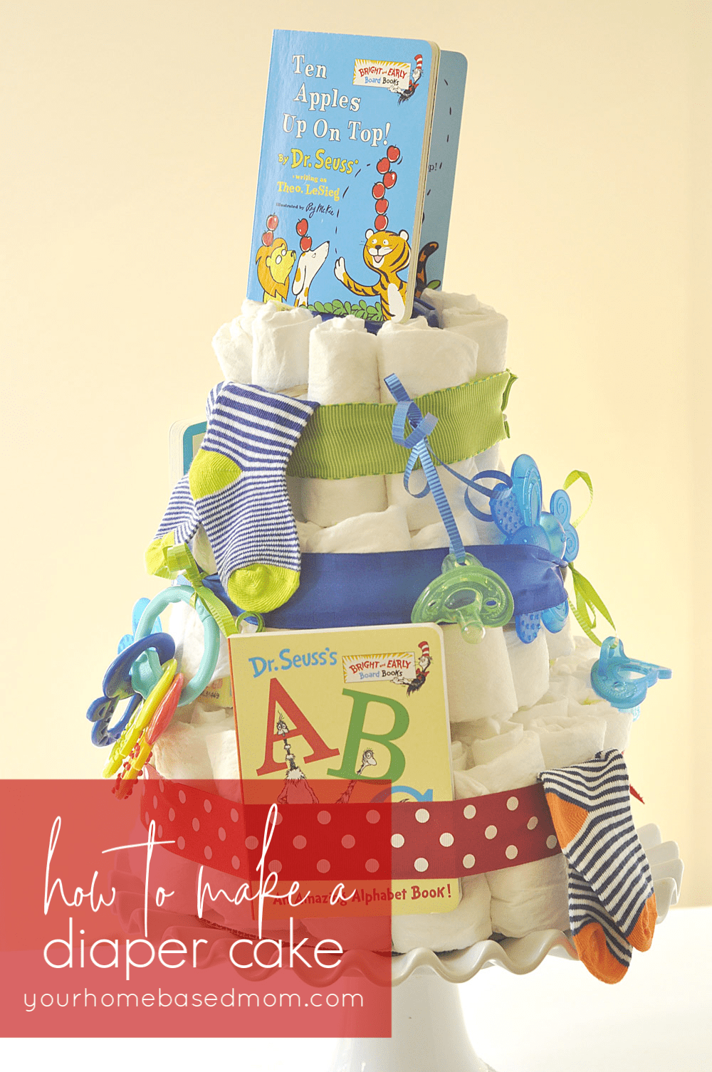 storybook themed diaper cake