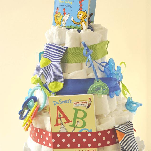 storybook diaper cake