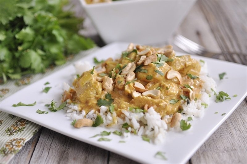 Chicken Coconut Korma with cashews