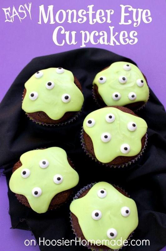 Easy Monster Eye Cupcakes