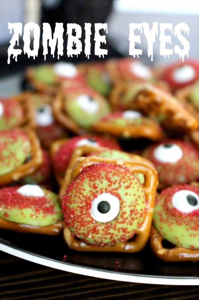 Zombie Eyeballs Pretzels