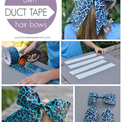 Duct Tape Hair Bows}Activity Day Idea