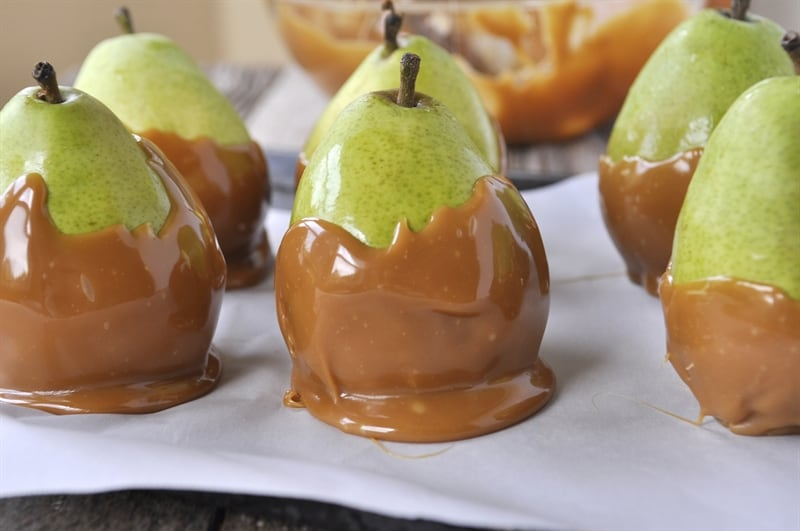 Caramel Covered Pears, a partridge in a pear tree@yourhomebasedmom.com
