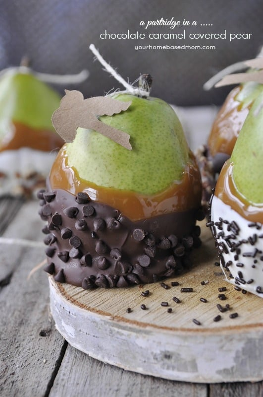 Caramel Covered Pears A Partridge In Pear Treeyourhomebasedmom