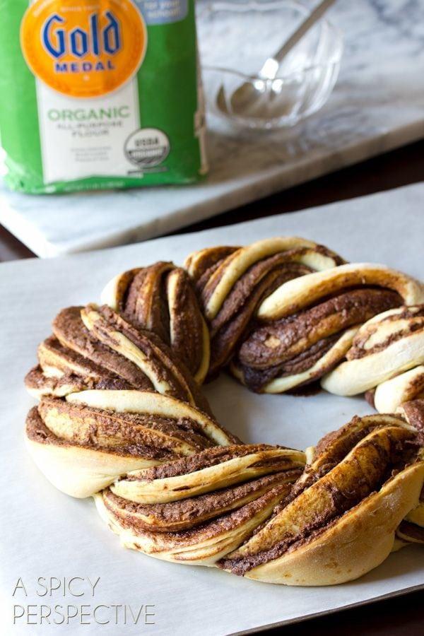 Chocolate Bread Wreath