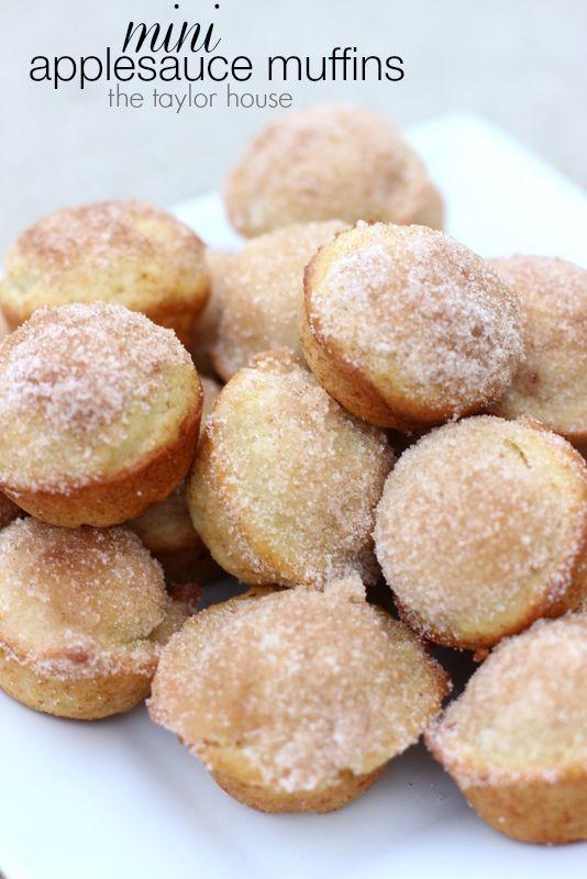 Sugar Applesauce Muffins