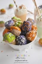Halloween Donut Holes and Flavored Milk Bar