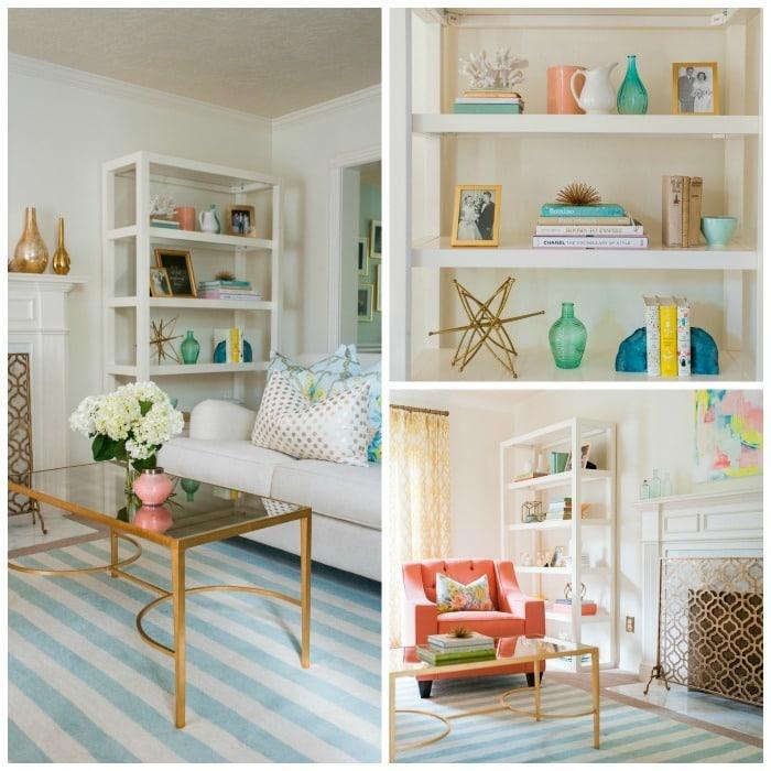 Living Room Redo - shelves