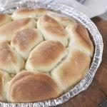 pan of parkerhouse rolls