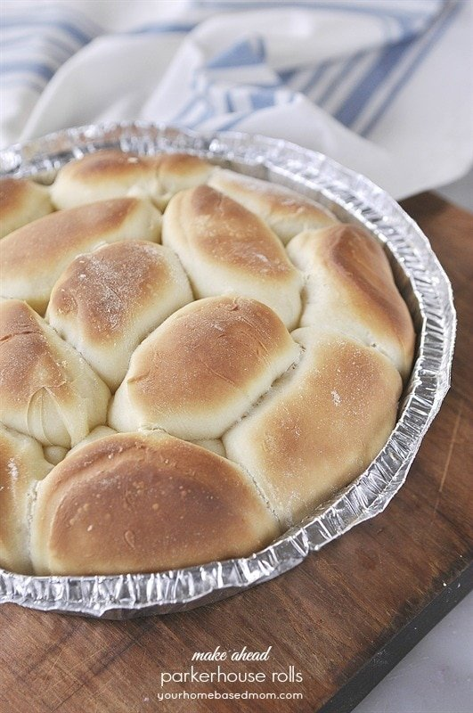 Make Ahead Parkerhouse Rolls - perfect for the holidays!