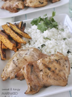 Sweet and Tangy Marinated Chicken