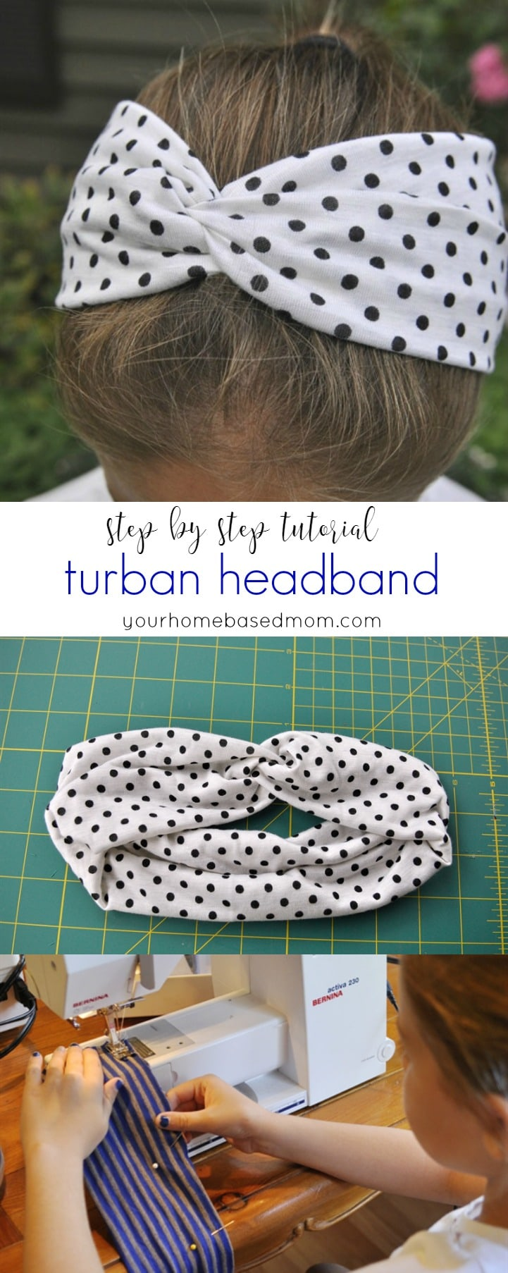 Turban headband tutorial and printableactivity day idea your turban headband step by step tutorial yourhomebasedmom baditri Images