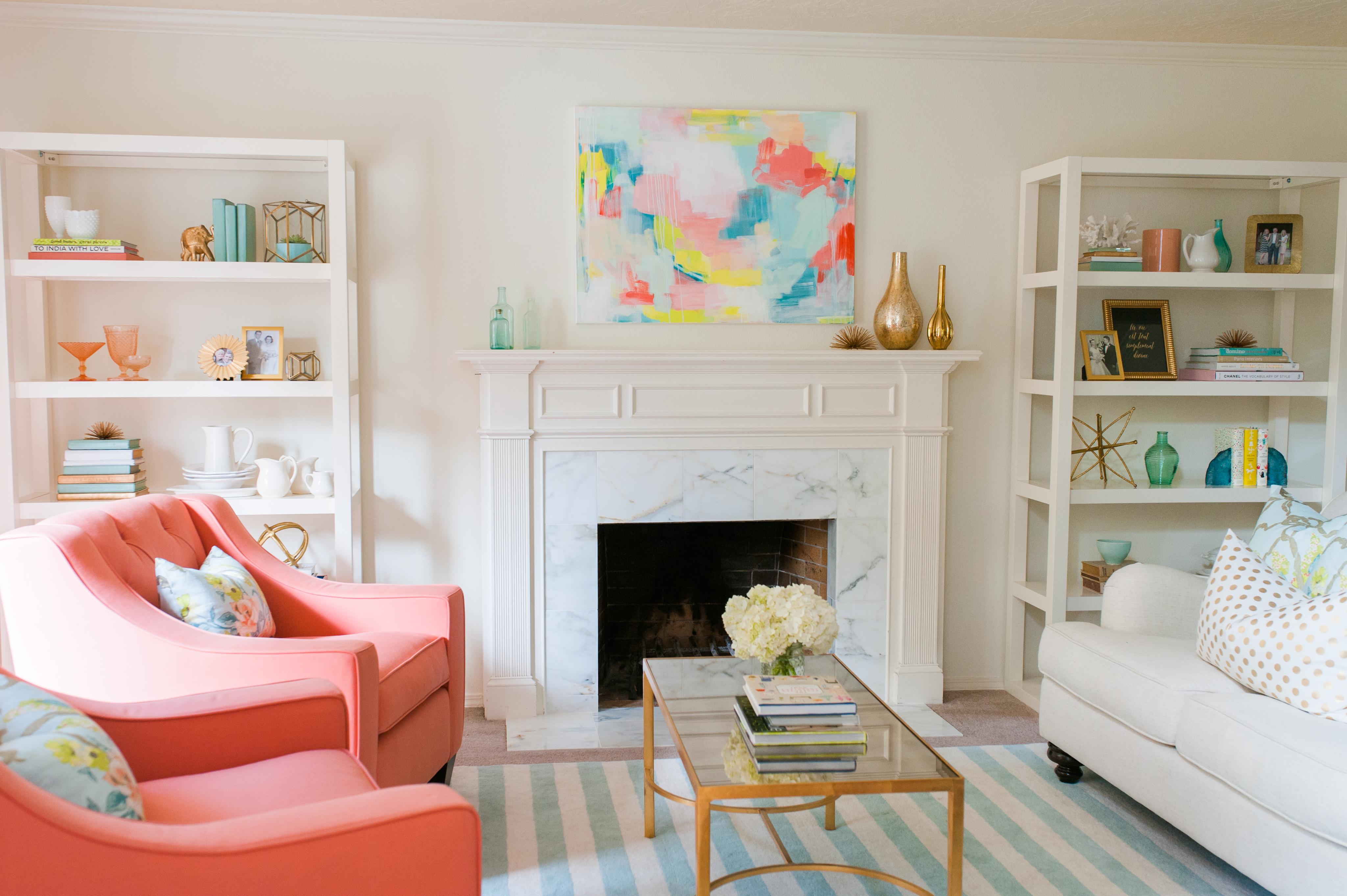 Living Room Redo Reveal - Your Homebased Mom
