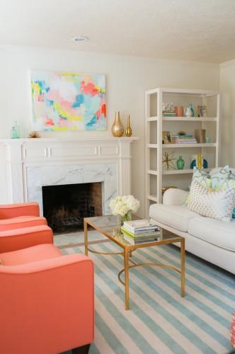 Living room redo reveal your homebased mom - How to redo a living room under 100 ...