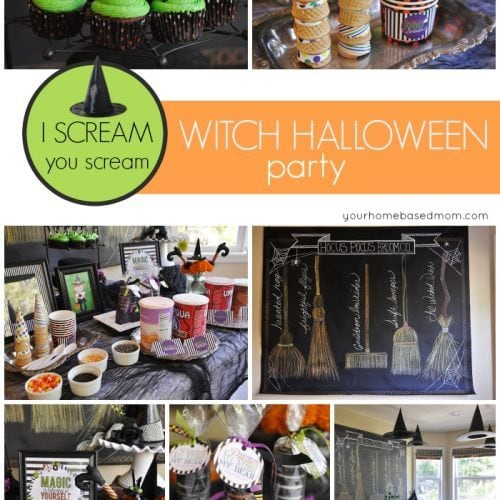 I Scream You Scream Witch Halloween Party