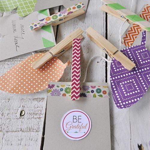 Be Grateful Banner and Blessing Bags}Activity Day Idea