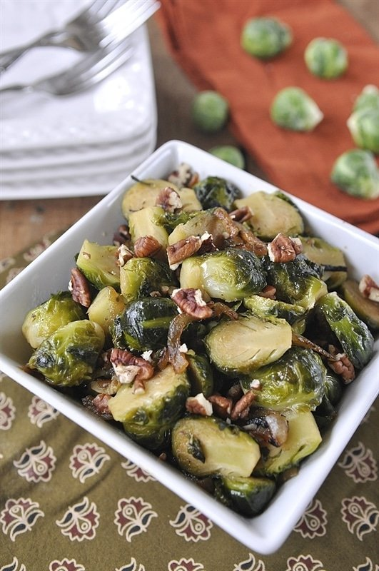 Brussel Sprouts with Pecans