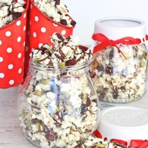 Coconut Cranberry Pistachio Popcorn