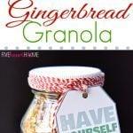 gingerbread granola in a jar