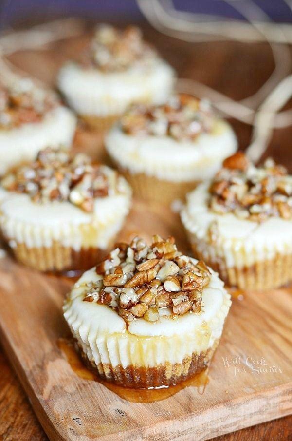 Maple Pecan Mini Cheesecakes