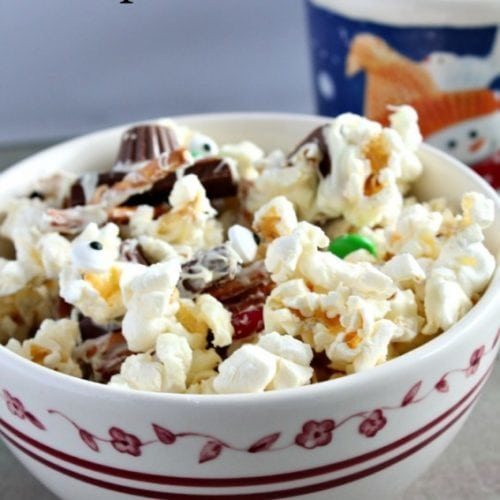 Melted Snowman Popcorn