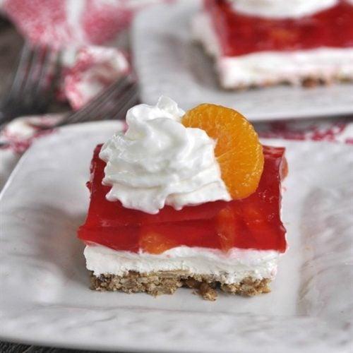 Orange Cranberry Pretzel Gelatin Salad
