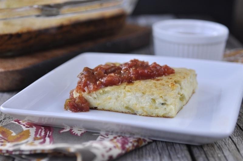 chile relleno egg bake