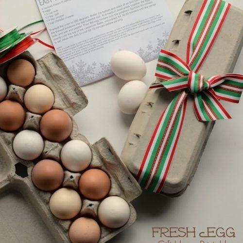 Fresh Egg Gift Idea & Printable